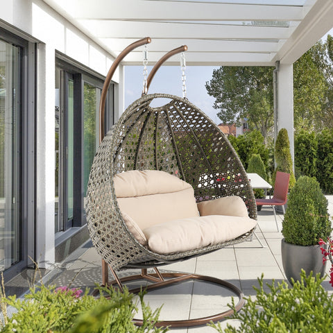 Wicker Hanging 2 person Egg Swing Chair
