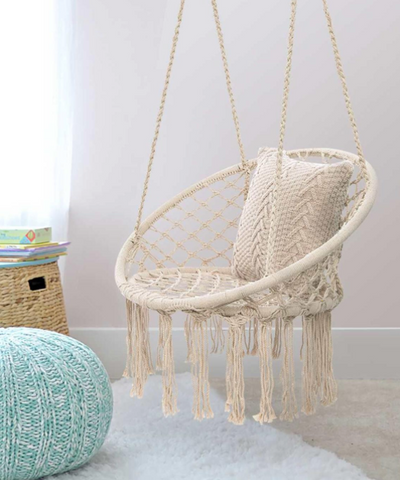 Hammock Chair Hand Knitted Indoor Outdoor Kids Swing Bed Adult Swinging Hanging Chair Hammock