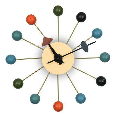 Nelson Wall Clock Multicolor Ball