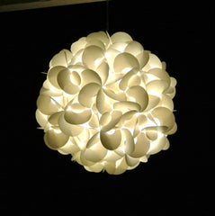 Deluxe Rounds Hanging Pendant Light - Warm white glow