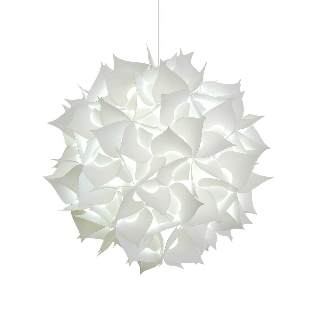 Deluxe Spades Hanging Pendant Light - Cool white glow