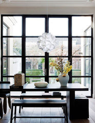 Deluxe Spades Hanging Pendant Light - Cool white glow - akarilanterns.com