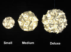 Deluxe Squares Hanging Pendant Light - LED Cool white glow - akarilanterns.com