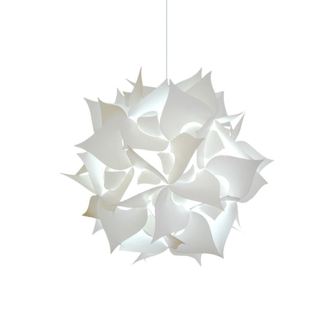 Medium Spades Pendant Light Fixture - Cool white glow