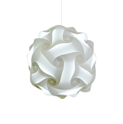 Medium Swirl Hanging Pendant Lamp - Cool White