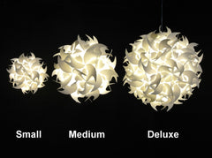 Small Hooks Hanging Pendant Light - Cool white glow - akarilanterns.com