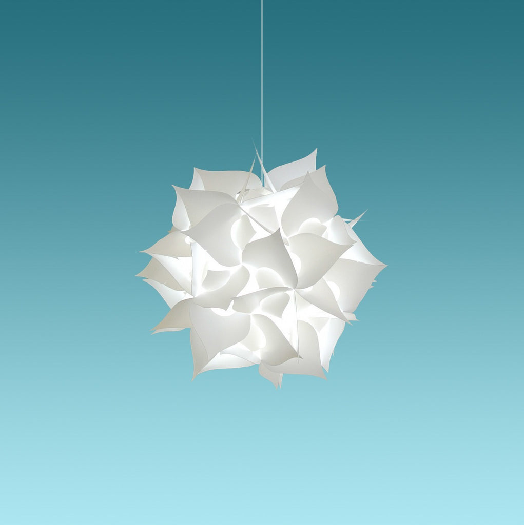 small spades plug in pendant light cool white glow