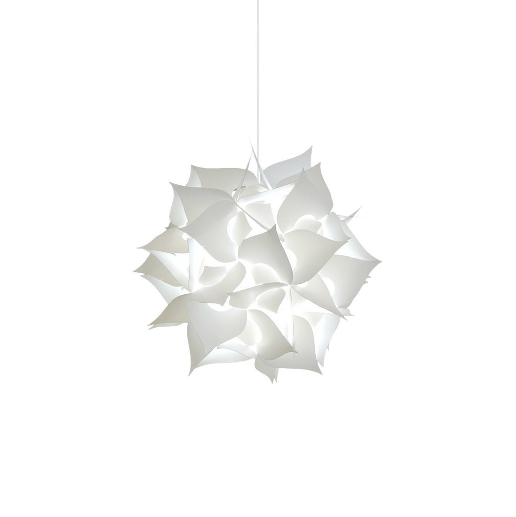 Small Spades Plug in Pendant Light - Cool white glow - akarilanterns.com