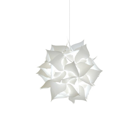 Small Spades Plug in Pendant Light - Cool white glow