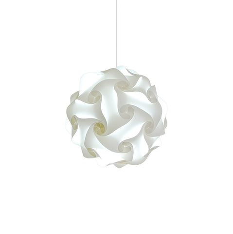 Small Swirl Hanging Pendant Lamp - Cool white