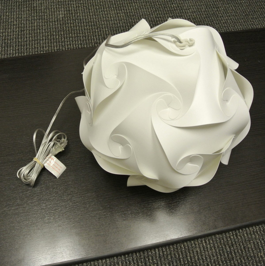 Small Swirl Hanging Pendant Lamp Cool White