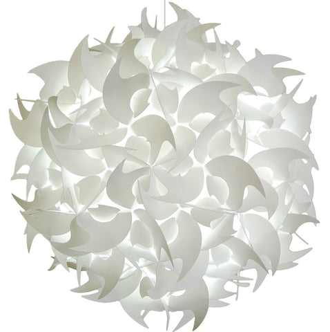 XL Hooks Pendant Light Fixture - Cool white glow