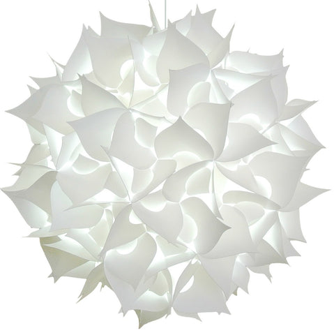 XL Spades Pendant Light Fixture - Cool white glow