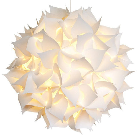 XL Spades Pendant Light Fixture - Warm white glow