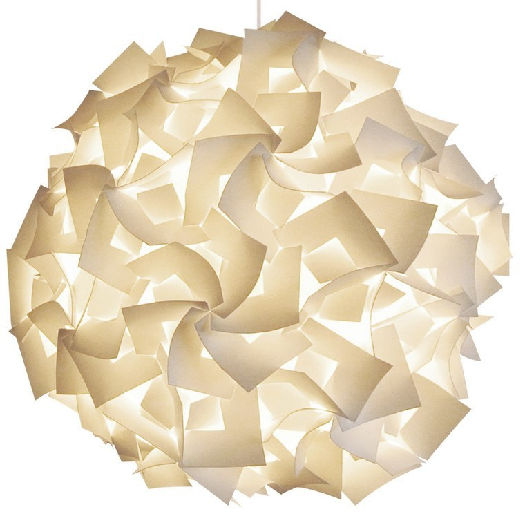 XL Squares Pendant Light Fixture - Warm white glow