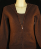 Cashmere zip up Hoody in Chocolate Brown