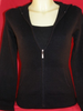 Cashmere zip up Hoody in Black