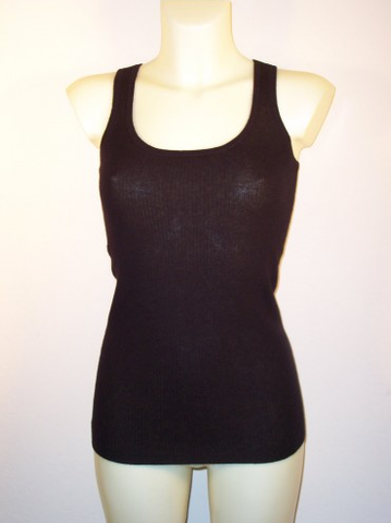 Black Cashmere Tank Top