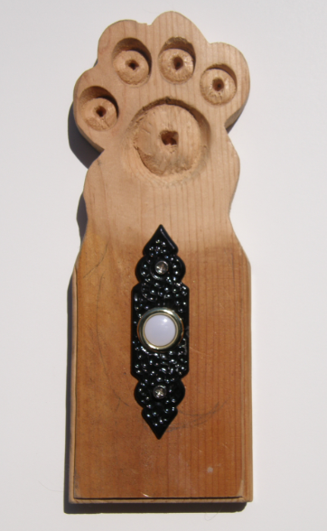 Wooden Doggy Doorbell
