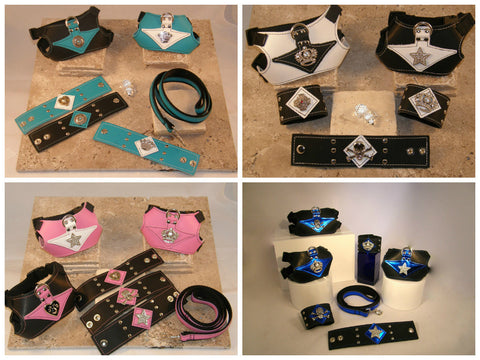Gatsby (turquoise/pink/black & white) Collection; Metallic Blue on Black (right lower corner)