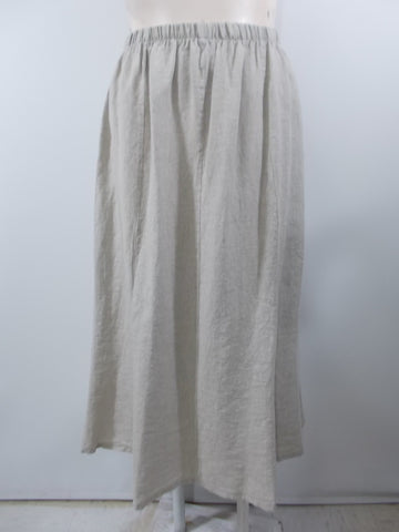 Match Point - Natural Linen Long Panel Skirt - Linnea's Boutique & Vera's Threads