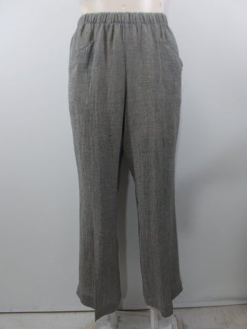Q'Neel - Grey Linen Blend 2 Pocket Slit Front Long Pant - Linnea's Boutique & Vera's Threads