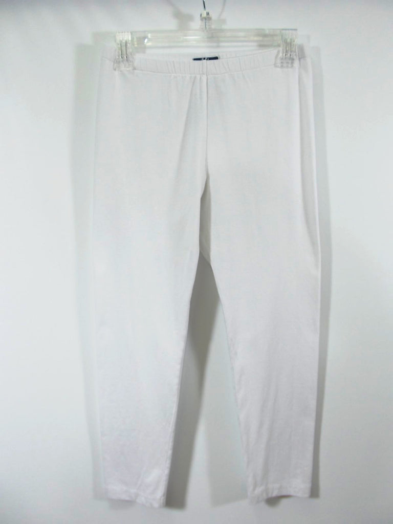 Fenini - White Cotton Crop Legging