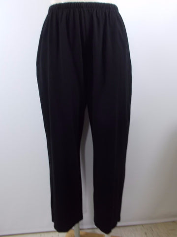 Fenini - Black Jersey 2 Pocket Narrow Long Pant