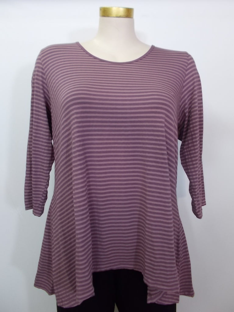 Heartstring - Rosymud 3/4 Sleeve Stripe Tunic - Linnea's Boutique & Vera's Threads