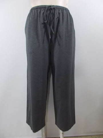 Cheyenne - Grey Elastic/Tie Waist Overdye 2 Pocket Ankle Pant - Linnea's Boutique & Vera's Threads