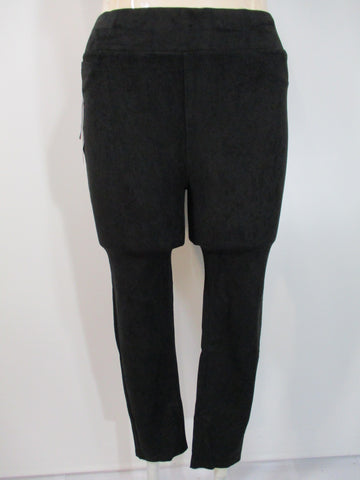 Lola Jeans - Black Suede Mid Rise Pull On 2 Back Pocket Pant - Linnea's Boutique & Vera's Threads