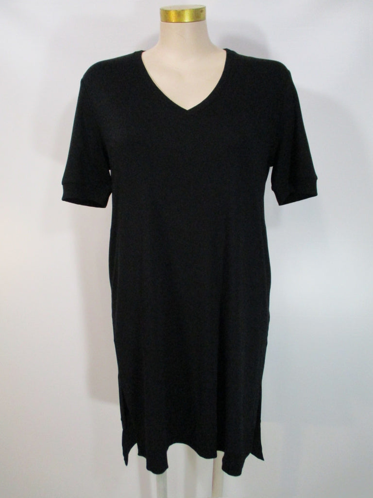 Shannon Passero - Black Short Sleeve Brittany Lined 2 Pocket Rib Trim Dress - Linnea's Boutique & Vera's Threads