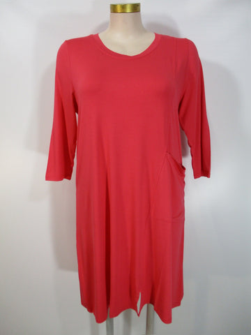 Shannon Passero - Coral 3/4 Sleeve Johanna Seamed Big Pocket Below Knee Dress - Linnea's Boutique & Vera's Threads