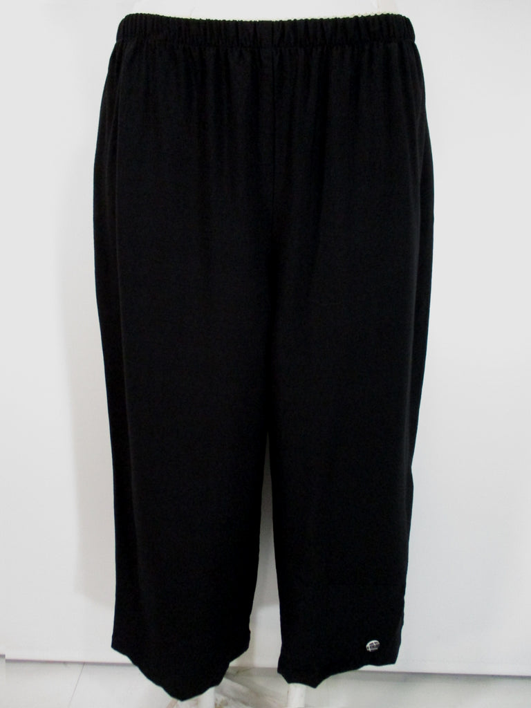 Niche - Black 2 Pocket Clare Pant w/1 Button Overlap Hem Detail - Linnea's Boutique & Vera's Threads