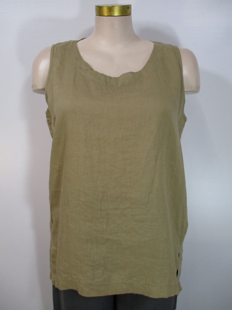 Luukaa - Beige Linen Sleeveless Aria Long Tank - Linnea's Boutique & Vera's Threads