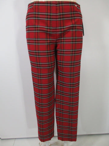Robell - Red/Multi Faux Zipper Plaid Slim Long Pant - Linnea's Boutique & Vera's Threads