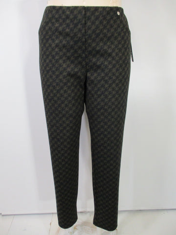 Robell - Brown/Black Faux Zipper Bella Houndstooth Print Back Pockets Slim Pant - Linnea's Boutique & Vera's Threads