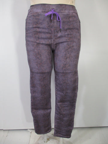 Alembika - Mauve/Multi Denim Drawstring 4 Pocket Stretch Pants - Linnea's Boutique & Vera's Threads