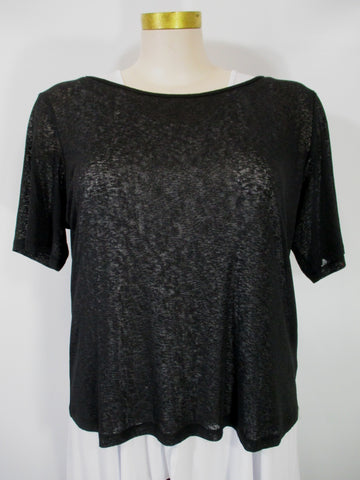 Luukaa - Black Elbow Sleeve Mesh Tee - Linnea's Boutique & Vera's Threads