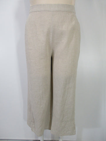 Habitat - Flax Linen Flat Front Easy Flood Pant - Linnea's Boutique & Vera's Threads