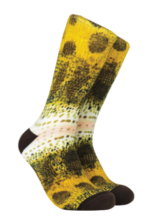 Reel Threads - Largemouth Bass Print Socks - Linnea's Boutique & Vera's Threads