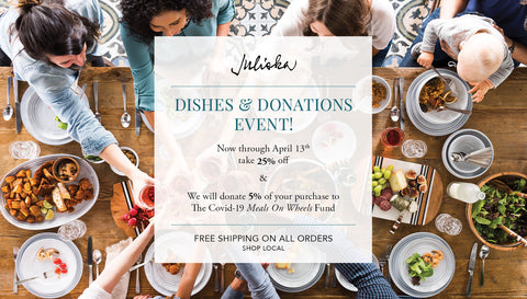 Juliska Dishes & Donations Event