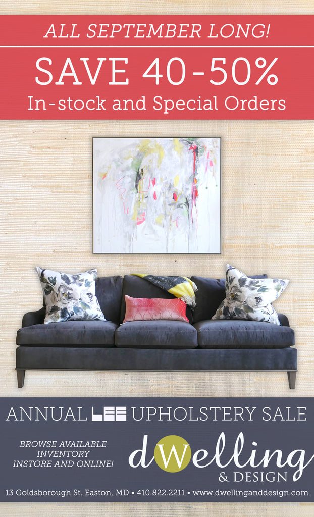 SEPTEMBER LEE UPHOLSTERY SALE