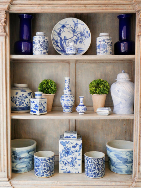 Classic Blue & White China available at Dwelling & Design