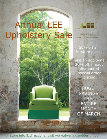 March Lee Upholstery Sale