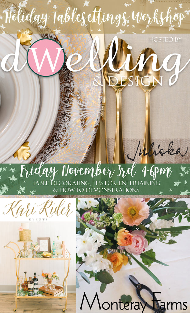 Holiday Tablesettings Workshop