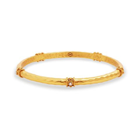 Savannah Stone Bangle | Pearl