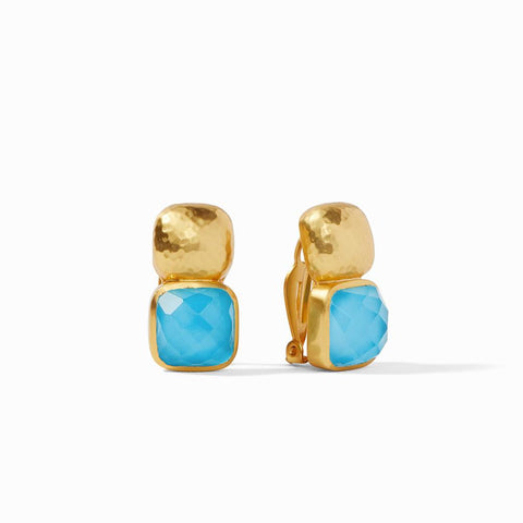 Catalina Clip Earring | Pacific Blue