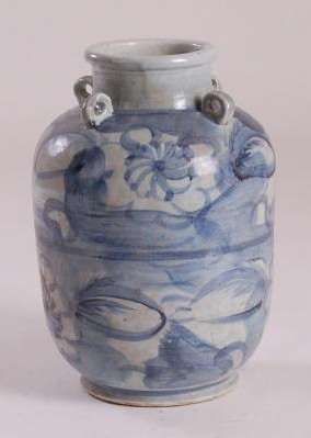 Blue & White Ming Water Jar