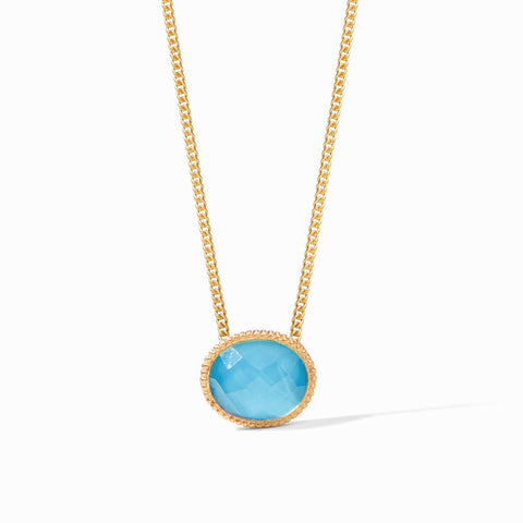 Verona Solitaire Necklace | Pacific Blue